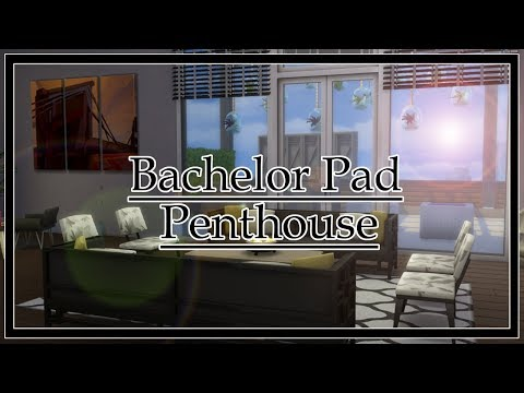 Bachelor Pad Penthouse Sims 4 Speed Build