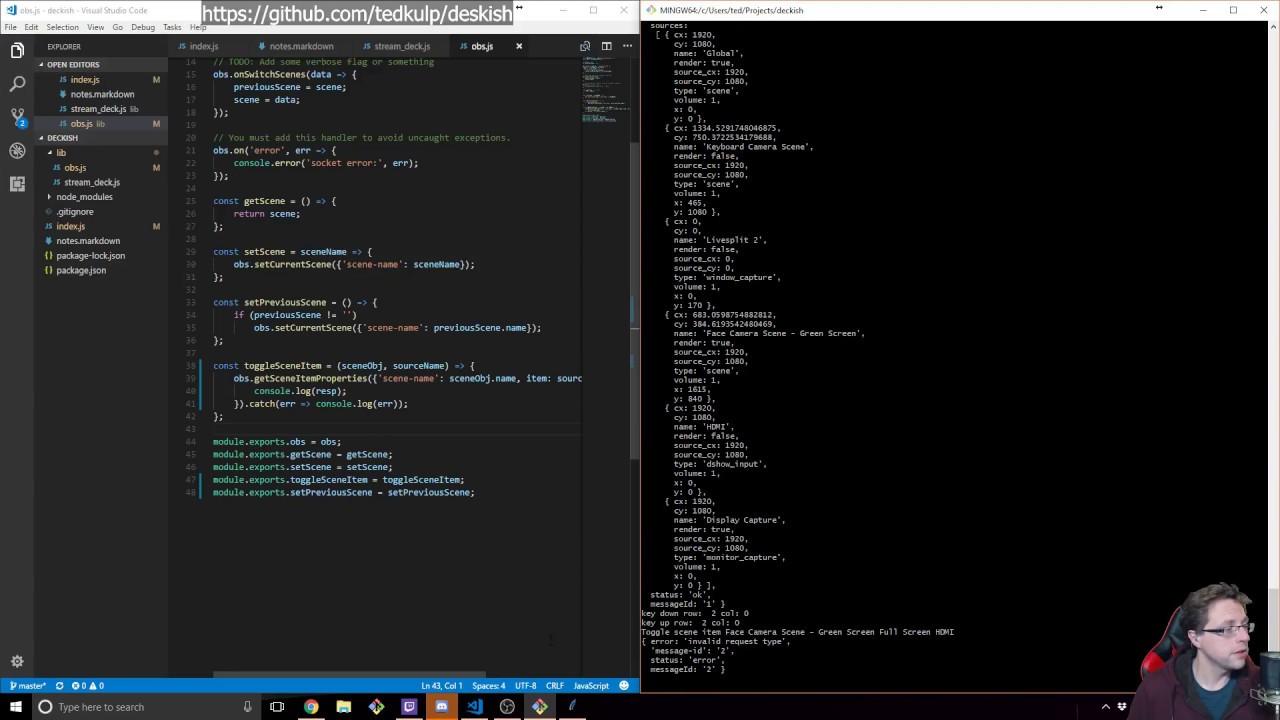 Stream Deck/OBS Hacking w/ node js [#2]