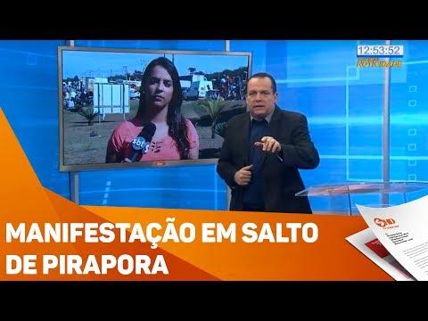 Manifestação em Salto de Pirapora - TV SOROCABA/SBT