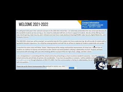 Welcome Back Message from Sunnymead Middle School Principal Ochoa.