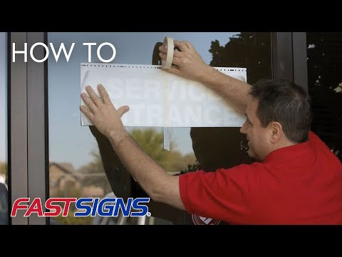 How To Apply Vinyl Lettering | FASTSIGNS®