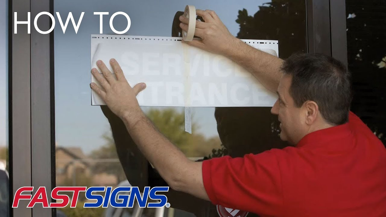 how to apply vinyl lettering from fastsigns
