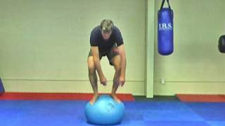 Swiss Ball Standing for Balance & Posture in MMA and Muay Thai