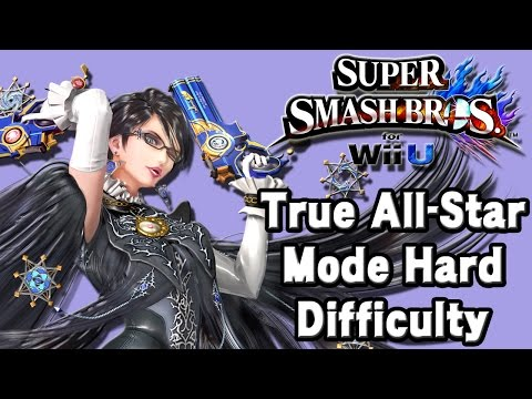 Super Smash Bros. For Wii U (True All-Star Mode Hard Difficulty | Bayonetta) 60fps