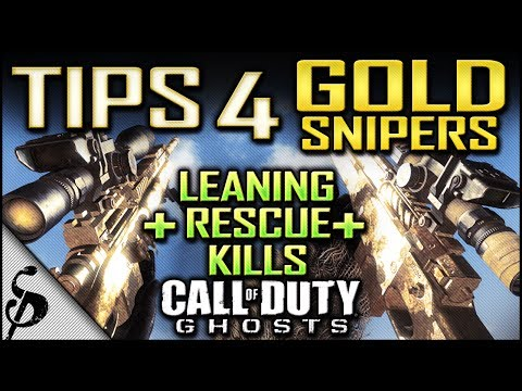 COD Ghosts - Tips 4 How to Get GOLD Snipers Fast + Leaning & Rescue Kills - How to Get Gold Camo