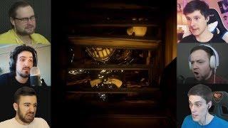 """""""Реакции Летсплейщиков"""" на  Бенди в Вентиляции из Bendy and the Ink Machine Chapter 4"""