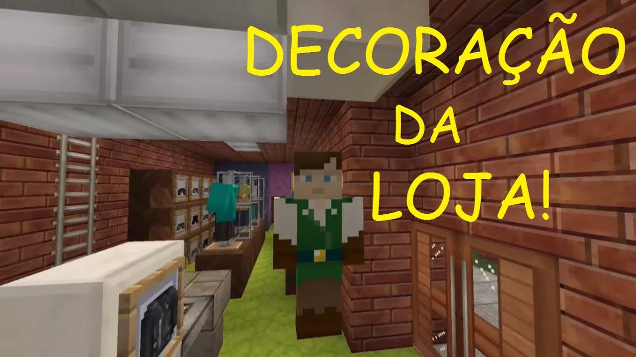Minecraft Sim City #8 Decoraç u00e3o da loja de roupas! YouTube -> Decoracao Para Loja Feminina Pequena