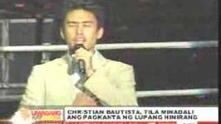 Christian Bautista: Lupang Hinirang Blooper