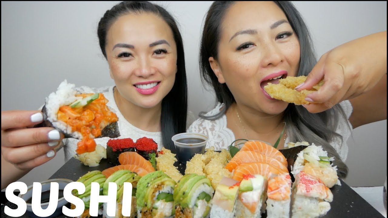 Sushi Mukbang With Sas Asmr N E Let S Eat Youtube U have to like my videos comment and follow for a chance to win.good luck🤪. sushi mukbang with sas asmr n e let s eat