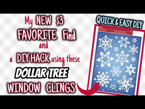My New Walmart $3 FAVORITE Find & HACK Using Dollar Tree's WINDOW CLINGS | QUICK & EASY DIY Using It