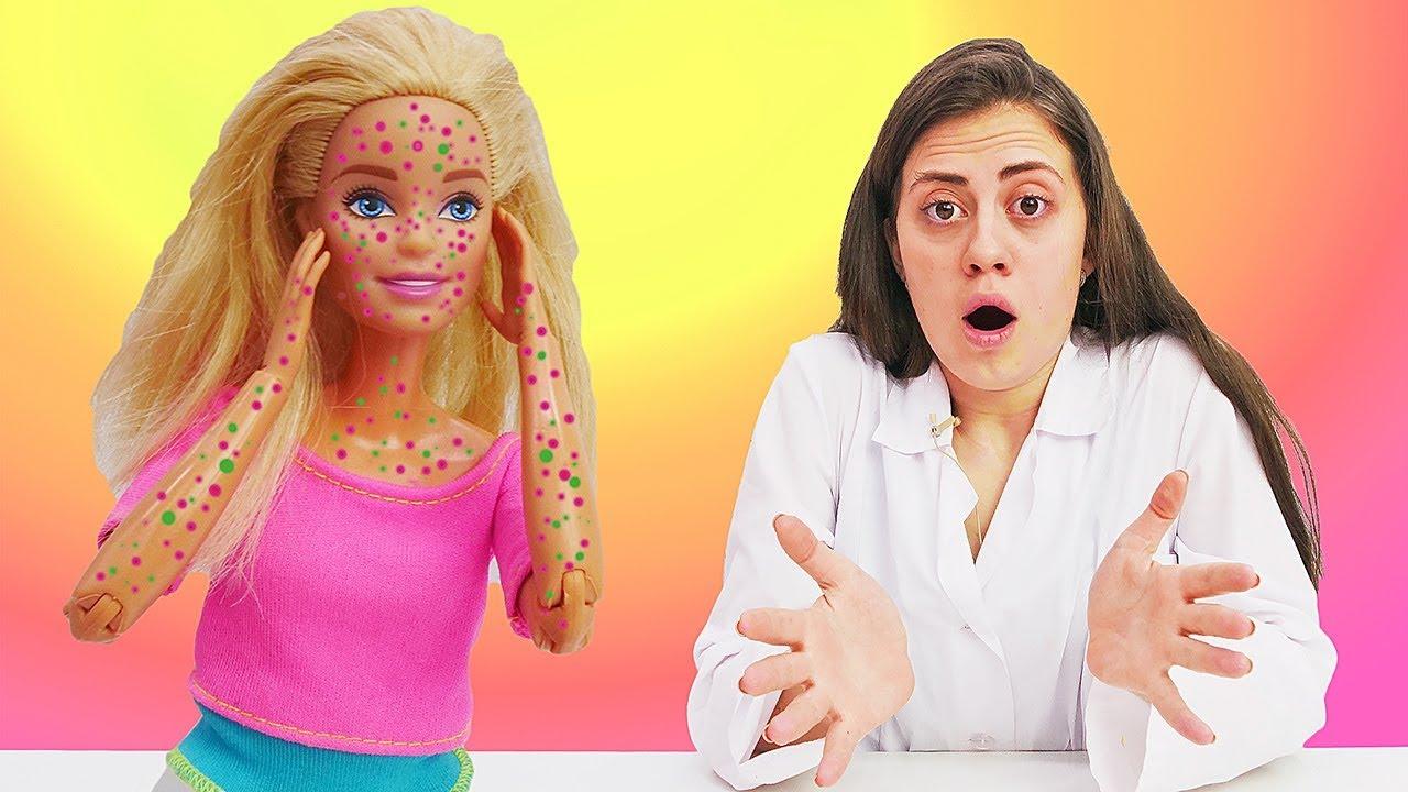 Игры для девочек с Куклой Барби -  Как вылечить инопланетную сыпь?