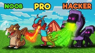 Legendary Dragon War! (NOOB vs PRO vs HACKER)