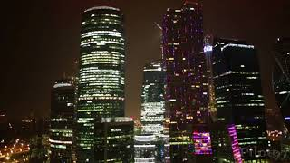 Ночная Москва, Москва Сити [2017 HD]
