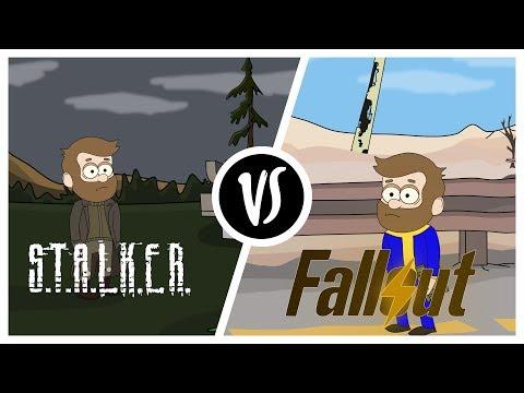 FALLOUT VS STALKER 小袪袗袙袧袝袧袠袝 袠袚袪袨袙蝎啸 小袝袪袠袡 [袗袧袠袦袗笑袠携]