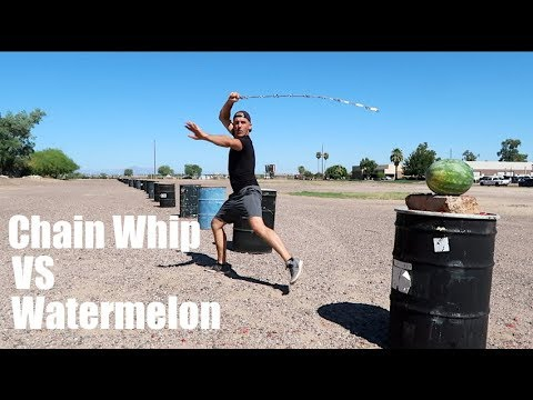 CHAIN WHIP VS WATERMELON | FRUIT NINJA