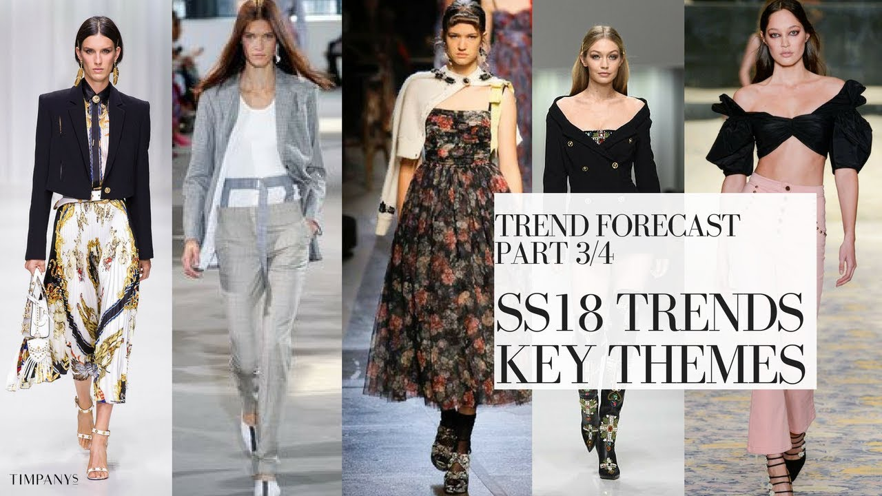 SPRING SUMMER FASHION TRENDS ss18: KEY ITEMS Part 3/4 ...