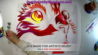PAINTING CAT on canvas by numbers!!