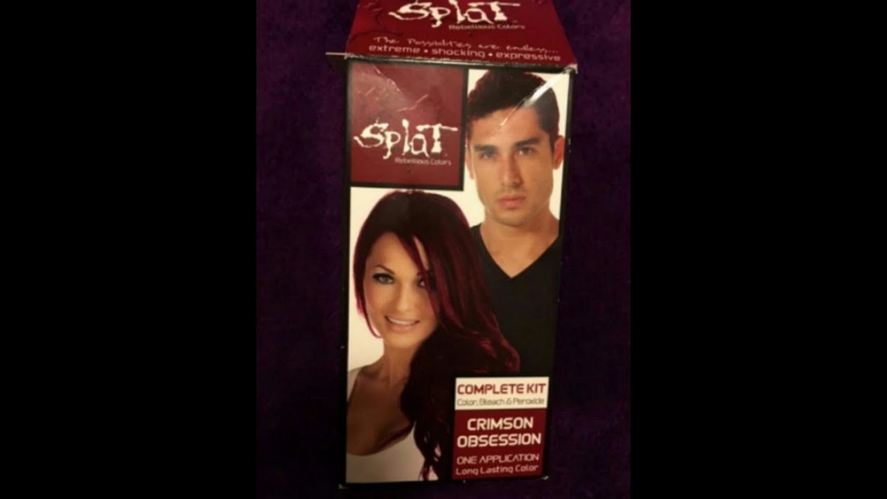 Splat Crimson Obsession Hair Dye Without The Bleach