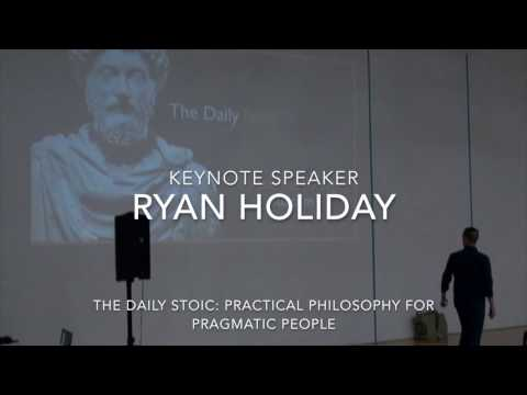 STOICON '16:  Keynote Speaker Ryan Holiday