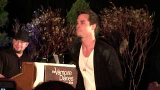 "Chris Wood singing ""I Believe In a Thing Called Love"" at TVD Orlando Karaoke Party"