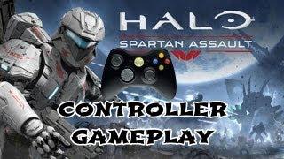 Halo Spartan Assault Controller Gameplay