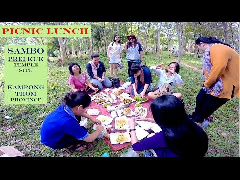 Visit Sambor Prei Kuk Temple Site in Kampong Thom Province | GoPro Hero5 of Picnic Lunch in Cambodia