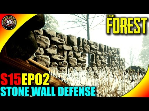 The Forest Gameplay - Stone Defensive Walls, Alpine Tree house Layout - S15EP02 (Alpha V0.33)
