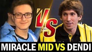 MIRACLE mid vs DENDI — M-GOD vs LEGEND Dota2