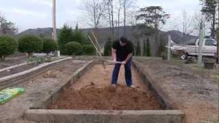 Human Tiller - Railroad Tie Raised Bed Garden Part 2