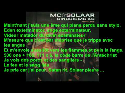 Mc Solaar - Solaar pleure + paroles