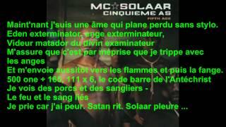 Mc Solaar - Solaar pleure + paroles