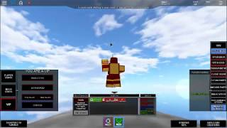 Go to moon with Ironman in ROBLOX build your own mech