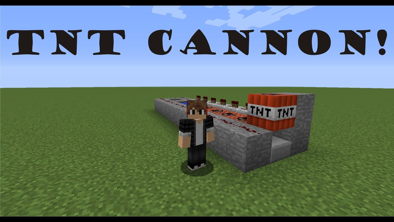 How to make a TNT Cannon in Minecraft 1.8! - YouTube