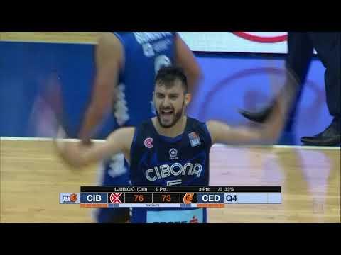 KEY MOMENT: Marko Ljubičić scores the crucial 3-pointer (Cibona - Cedevita, 21.10.2018)