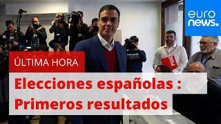 Elecciones españolas : Los primeros resultados