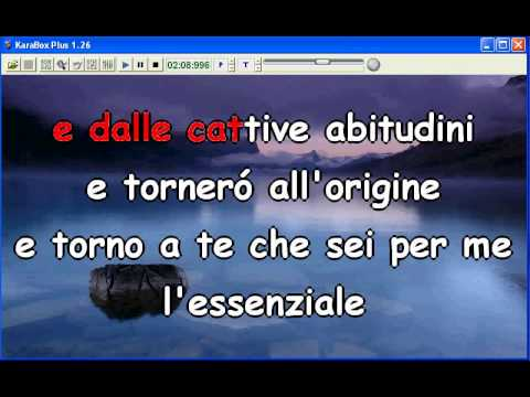 Marco Mengoni - L'essenziale - Base Musicale con Testo Lyrics e Cori Karaoke KaraBox HQ Sanremo 2013