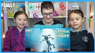 D-THREE KIDS REACT to SHAUN THE SHEEP MOVIE: FARMAGEDDON Teaser Trailer (2019)