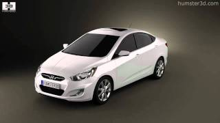 Hyundai Accent i25 Sedan 2012 by 3D model store Humster3D.com