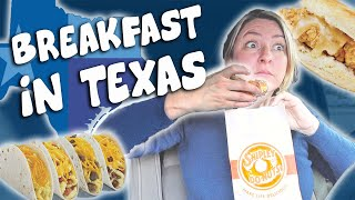 Breakfast in Texas (Kolaches, Breakfast Tacos and More!!)// Travel Snacks