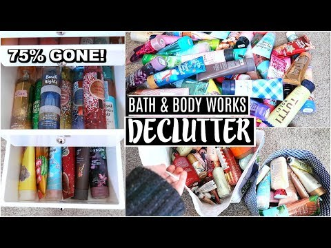 DECLUTTERING MY MASSIVE BATH & BODY WORKS COLLECTION!