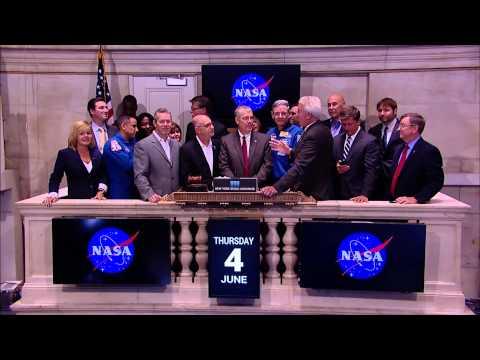 Nasa Partners Ring Closing Bell At New York Stock