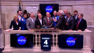 NASA, Partners Ring Closing Bell at New York Stock Exchange