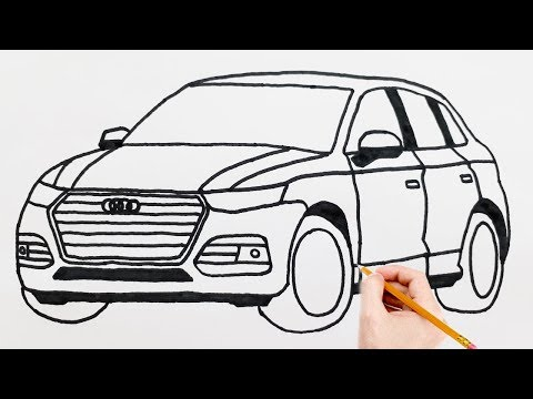AUDİ Spor Araba Çizimi - How to Draw a Car Audi Sports Easy Drawing Luxury Sports Cars