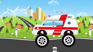 Мультфильмы про полицию  Полицейская машина едет в автомастерскую  Мультик про п