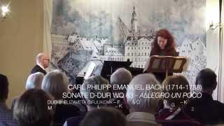 Carl Philipp Emanuel Bach (1714-1788) - Sonate D-Dur Wq 83 - 1. Allegro un poco