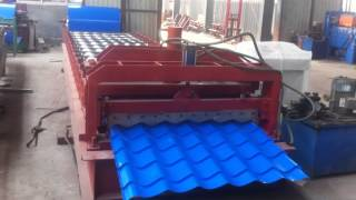TY 1100 type metal tile making machine exported Russian  video