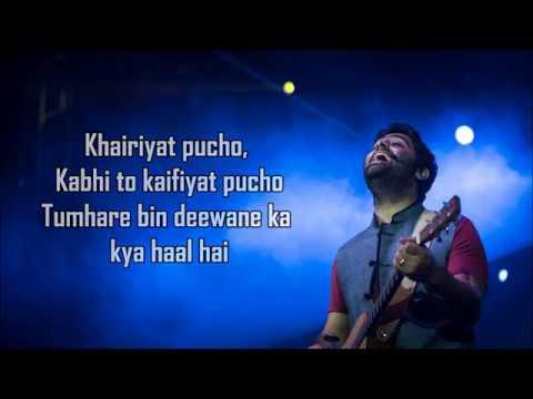 Khairiyat Lyrics  Happy   Chhichhore  Arijit Singh  Amitabh B  Sushant , Shraddha  Pritam
