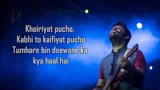 Khairiyat Lyrics ( Happy ) | Chhichhore | Arijit Singh | Amitabh B | Sushant , Shraddha | Pritam |