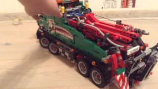 Обзор LEGO TECHNIC 42008 зелёный эвакуатор