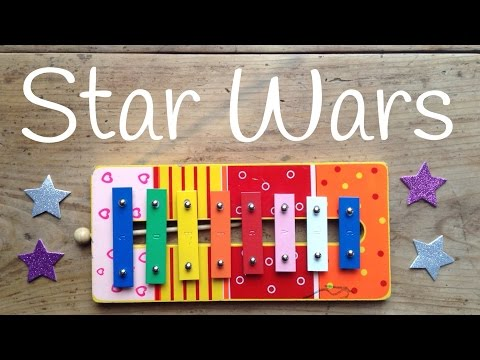 Cómo tocar la Marcha Imperial de STAR WARS   Canciones con XILÓFONO para niños
